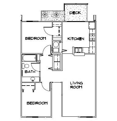 2 Bedroom Apartment Floorplan