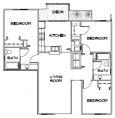 3 Bedroom Apartment Floorplan